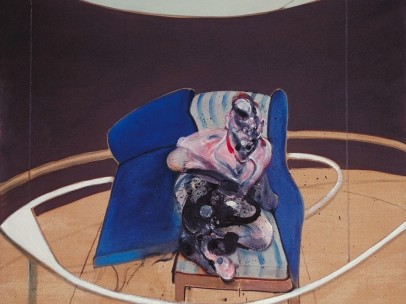 Francis Bacon, Study for Portrait on Folding Bed 1963