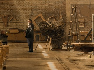 Ai Weiwei in his studio in Caochangdi, Beijing, taken in April 2015