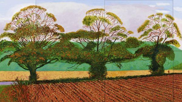 'Three Trees near Thixendale, Autumn', 2008