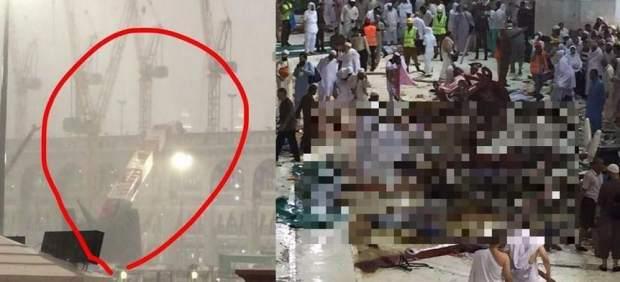 Al menos 52 muertos al caer una grúa en la mezquita de La Meca