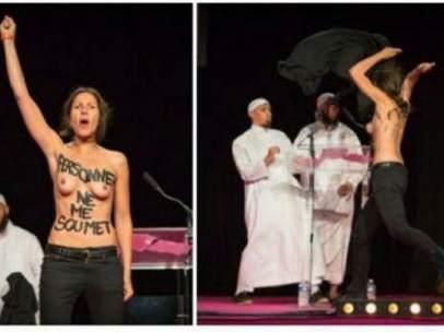 Acivistas de Femen atacadas