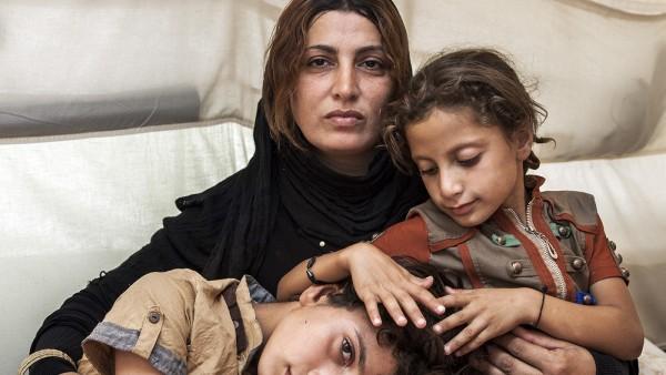 Amira and her Children, September 2014
