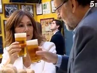 Rajoy y Ana Rosa de cañas