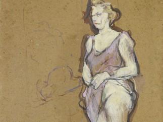 Henri de Toulouse-Lautrec (1864-1901) - L'Inspection médicale : femme de maison blonde, 1893-1894