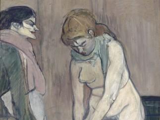 Henri de Toulouse Lautrec (1864-1901) - Femme tirant son bas, 1894