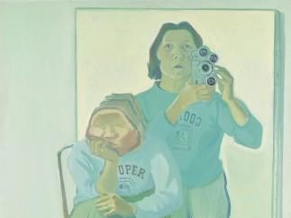 Maria Lassnig, Doppelselbstportr�t mit Kamera, 1974