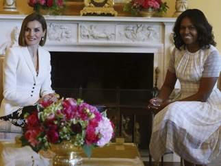 Letizia y Michelle Obama