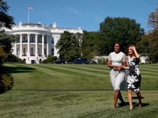 Michelle Obama y la reina Letizia