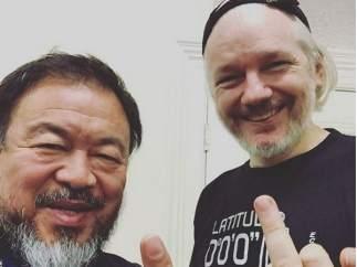 Ai Weiwei y Julian Assange
