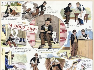 """A Dog's Life"" (1918) as a comic strip"