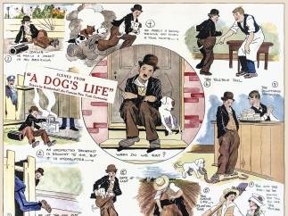 """A Dog's Life"" (1918) as a comic strip"