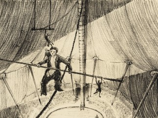 Production sketch for �The Circus� (1928)