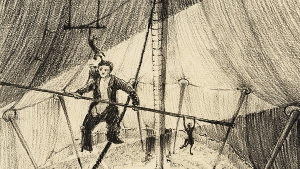 """Production sketch for """"The Circus"""" (1928)"""