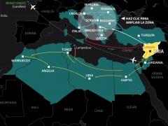 El mapa del éxodo sirio