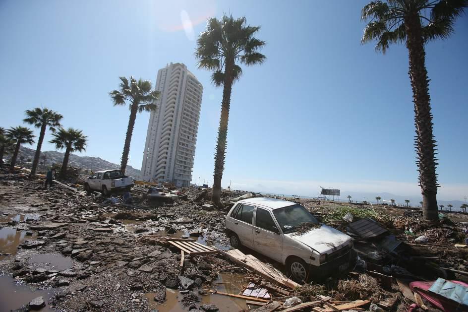La costa de Chile tras el desastre