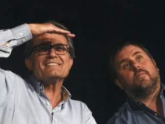 Artur Mas y Oriol Junqueras