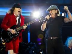 Brian Johnson y Angus Young, en el set de grabación del nuevo disco de AC/DC