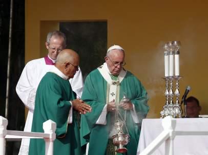 El papa Francisco durante la misa en la Plaza de la Revolución de La Habana (Cuba)