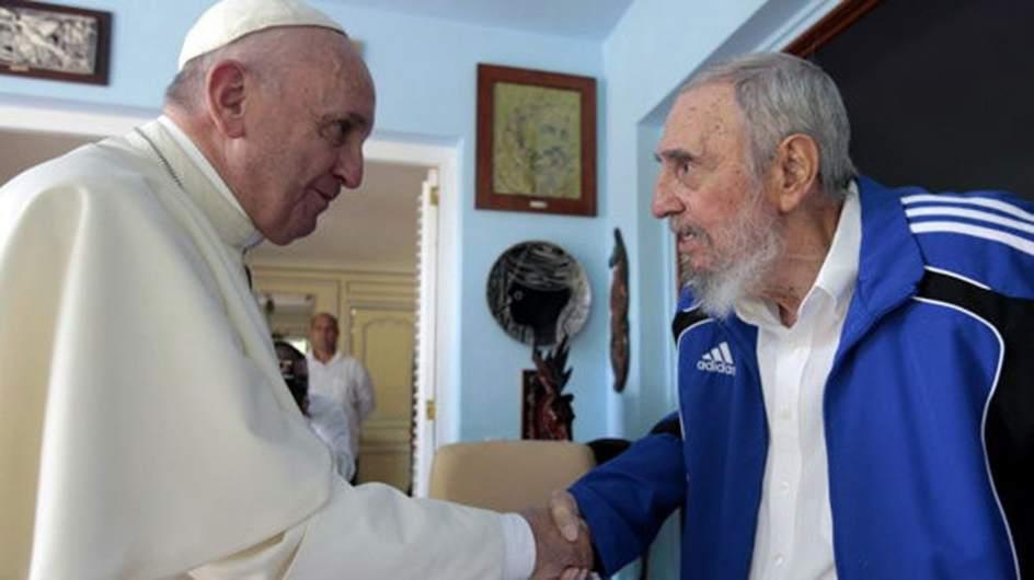 Francisco visita a Fidel