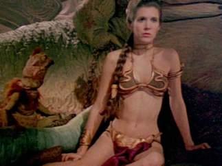 Carrie Fisher y el inolvidable bikini dorado de la
