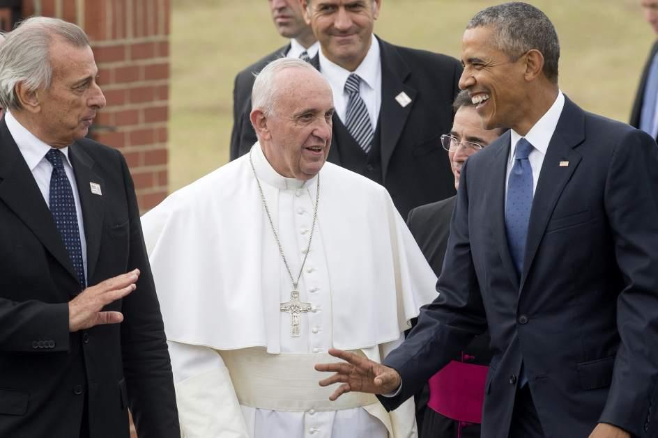 El papa ya está en EE UU