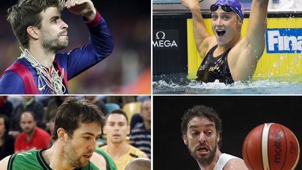 Cuatro deportistas catalanes