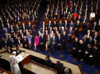 El papa Francisco en el Congreso de EE UU.