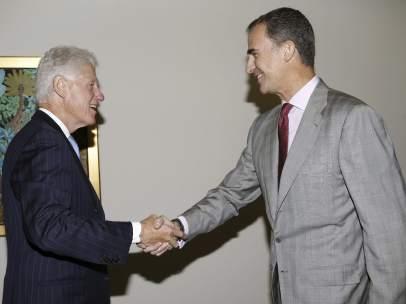 Rey España Bill Clinton Nueva York 2015.