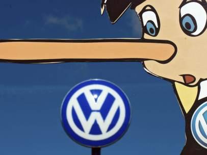 Protesta de Greenpeace contra Volkswagen