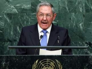 Raúl Castro, en la sede de Naciones Unidas en Nueva York