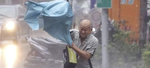 El tifón Dujuan, en Taiwan