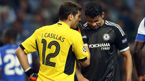 Casillas y Diego Costa