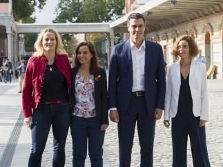 Pedro S�nchez presenta a sus candidatas por Madrid