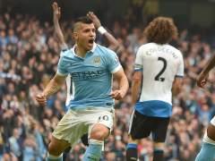'Kun' Ag�ero marca cinco goles en 19 minutos