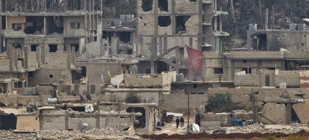 Kobani, en ruinas