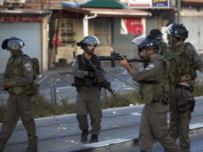 Ejército israelí, patrullando en Jerusalén