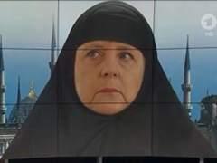"""'Merkel la musulmana', la televisi�n alemana """"cubre"""" con el 'hijab' a su canciller"""
