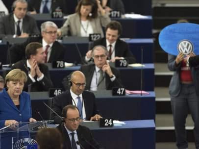 Angela Merkel en el Parlamento Europeo