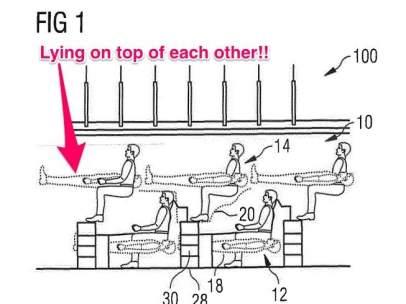 Diseñan un avión con literas