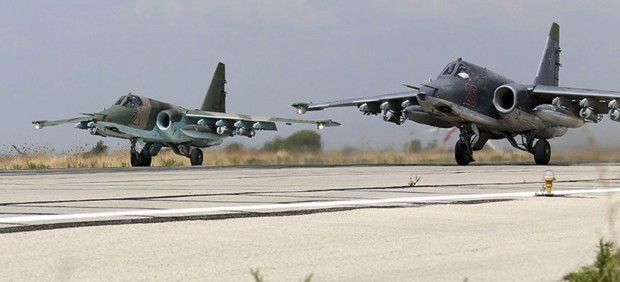 Aviones rusos en Siria
