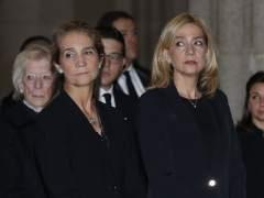 Cristina reaparece en el funeral del infante Carlos en El Escorial