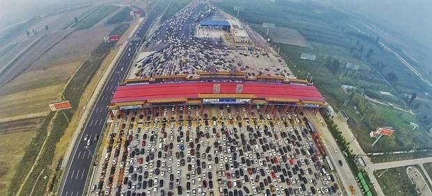 El atasco de tráfico más gande de la historia