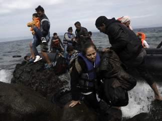 Embarcaci�n de refugiados