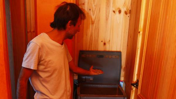 Rafa Montes, en su casa de Chinchón