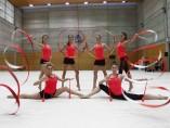El equipo español de gimnasia rítmica