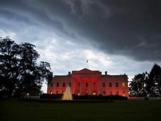 La Casa Blanca se vuelve rosa