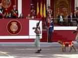 Desfile de la Fiesta Nacional y Pablo, la cabra de la Legi�n