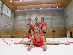 El equipo espa�ol de gimnasia r�tmica