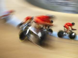 Ciclista fugaces en Suiza