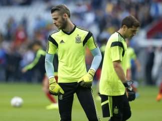 David De Gea e Iker Casillas.